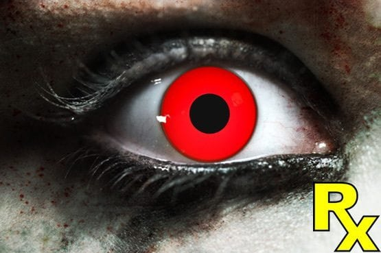 Zombie Red Gothika Contact Lenses