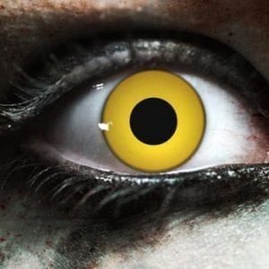 Zombie Yellow Gothika Contact Lenses