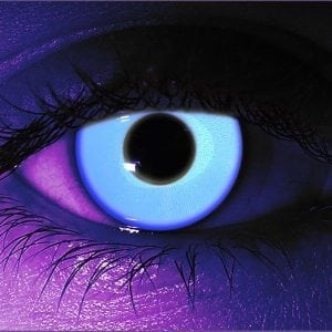Rave Blue UV Contact Lenses