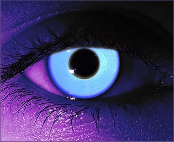 Rave Blue UV Gothika Contact Lenses